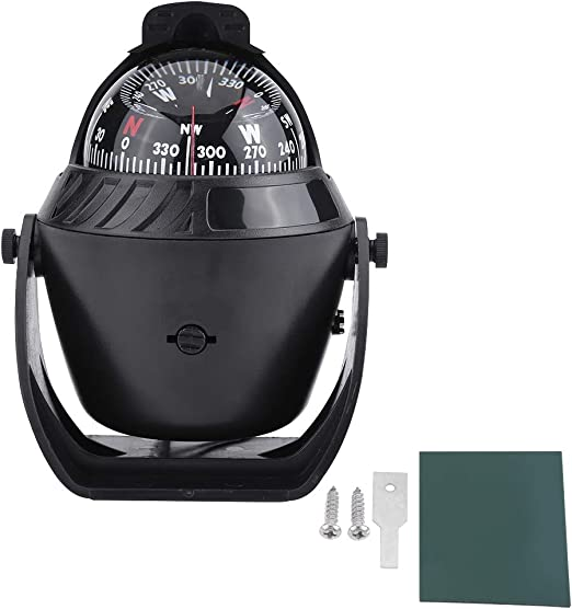 Sports & Outdoors Boat Compasses High Precision LED Light Pivoting ...