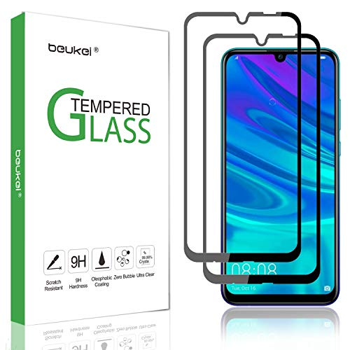 (2 Pack) Beukei Compatible for Huawei P Smart 2019/Honor 10 Lite/Honor 20i/Honor 10i Tempered Glass Screen Protector (6.21 inches) , Glass with 9H Hardness, for (P Smart Plus 2019), with Lifetime Replacement War