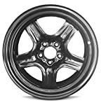 Road Ready Car Wheel For Chevrolet Malibu (08-12) Saturn Aura (07-10) Pontiac G6 (07-10) 17 Inch 5 Lug Steel Rim Fits R17 Tire - Exact OEM Replacement - Full-Size Spare