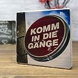 elbPLANKE - Komm in die Gänge | 10x10 cm | Holzbilder von Fotoart-Hamburg | 100% Handmade aus Holz (Kiefer/Fichte)