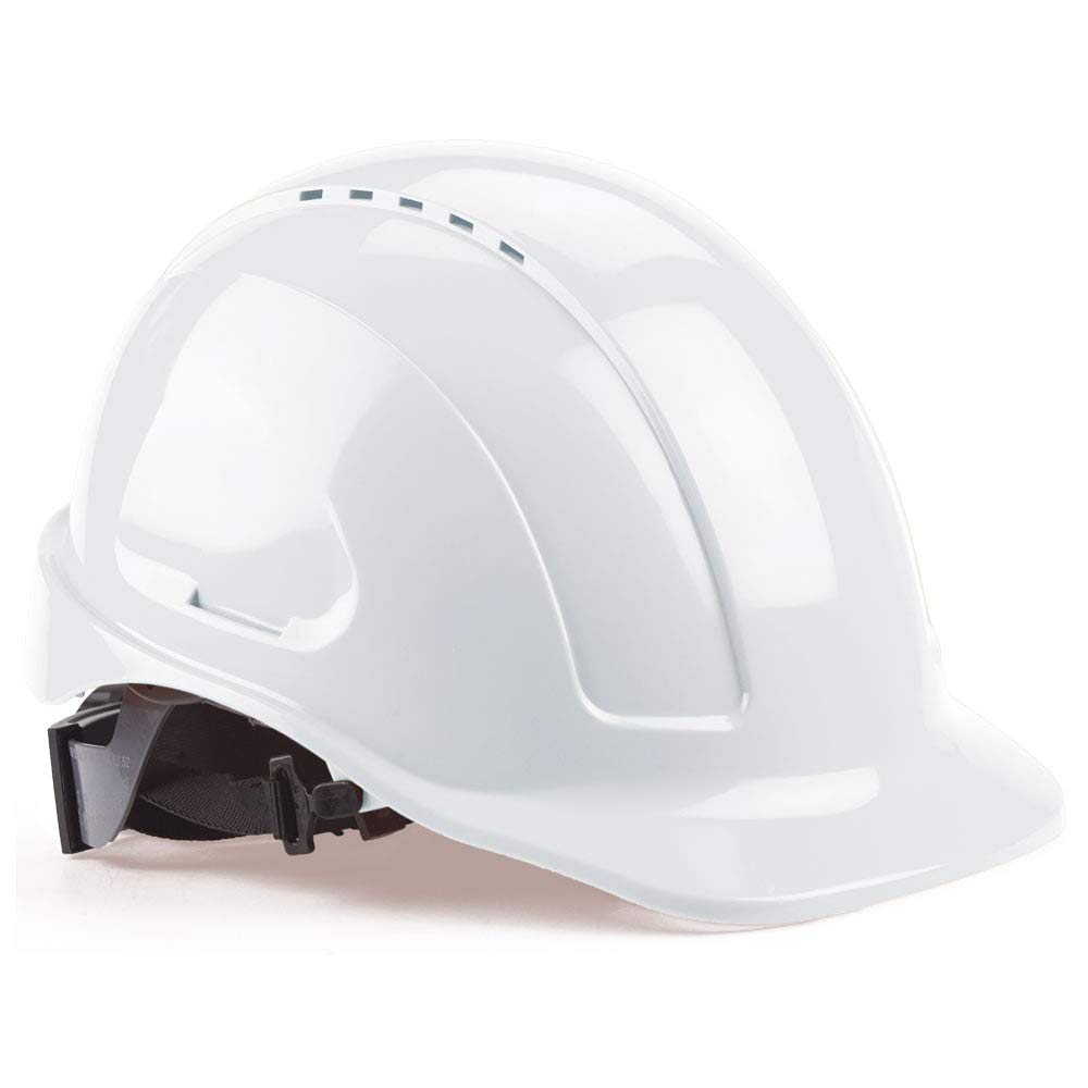 New products, world's highest quality popular! SAFEGEAR White Standard Front Brim Hard Hat 6-Point - 1 year warranty with Vent