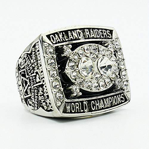 Sentoo 1980 Oakland Raiders Super Bowl Championship Ring Silver (9)