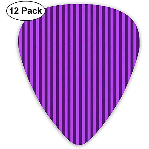 Púas de guitarra con diseño de rayas moradas 12 paquetes, que incluyen...
