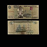 XMSM ロシアルーブル2000色ゴールドコイン紙幣のレプリカ24K金箔記念ゴールド紙幣フェイクマネーパーフェクト工芸 (色 : Style 9)
