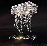 dxx Muebles/Herramientas de iluminación/Apliques/Decoración de pared Ellie Chandelier - Araña de cristal de lujo de acero inoxidable, dormitorio Duplex Villa Hotel Lobby Restaurant, iluminación