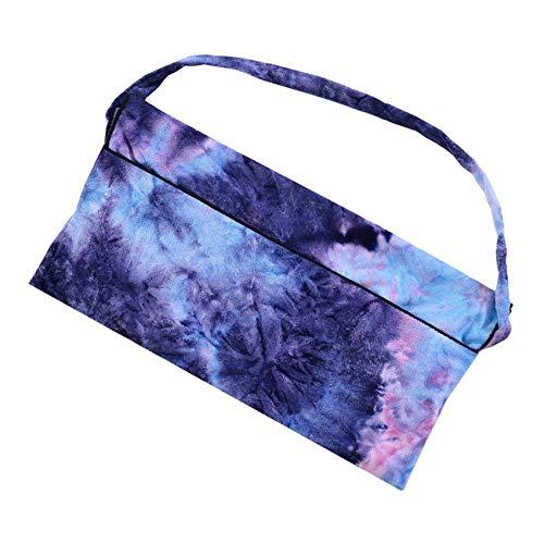 Yesiidor Toalla de playa de microfibra portátil de secado rápido con bolsillo lateral, color azul