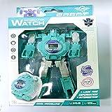 Hpjoobkle Robots Watch, Robot Creatif Widge Watch, Montre électronique Transformable King Kong Jouet, Montres Bracelet Digital Big Face pour 2-14 Ans, Jouets pour garçons et Filles,Vert
