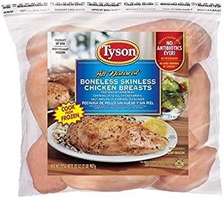 Tyson Boneless Skinless Chicken Breasts, 2 Pounds (Frozen)