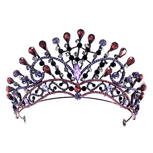 lijun Vintage Barroco Reina Tiara Boda Corona Nupcial Diadema Cristal Diamantes de imitación Joya