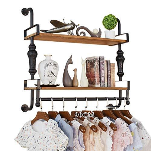 DIKE UK perchero de pared, Ropa de madera montada en la pared que cuelga para la tienda de ropa casera, estante de exhibición de los estantes, estante de la pared, estantes de exhibición, estante de l