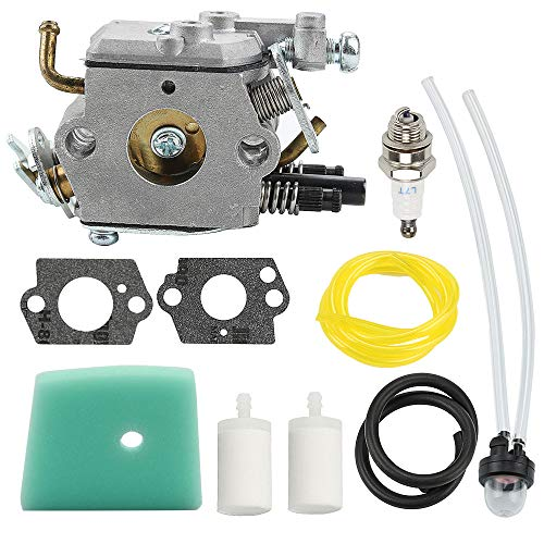Powtol 588171156 C1Q-EL24 Carburetor fits Husqvarna 123L 223L 322C 322L 322R 323C 323L 323LD 325L 326L 326LX 326LS Trimmer Weed Eater Parts 503283401 with Air Filter Tune Up Kit