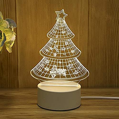 wangzj Night Lights Luces de la habitación-Árbol de Navidad Lámpara de regalo Lámpara de noche Lámpara de mesita enchufable Lámpara de mesa 3D Regalo de cumpleaños de niña