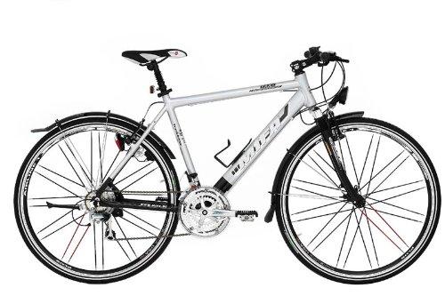 MIFA Herren Fitnessbike 24 Gang, schwarz/Silber, 52 cm, 28 Zoll, MF210-5201