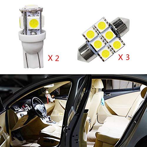 para Land Cruiser Super Brillante Fuente de luz LED Interior Lámpara de Coche Bombillas de Repuesto Blanco Paquete de 5