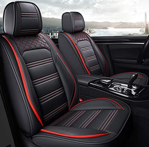 HZWZ Cubierta De Asiento De Automóvil para BMW E46 E36 E39 Accesorios E90 X5 E53 F11 E60 F30 X3 E83 X1 F48 F10 F15, Cubiertas Universales para Asientos De Automóviles,Red Line