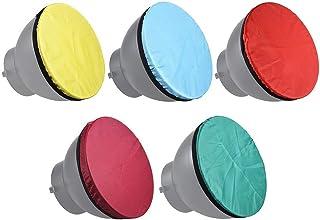 Docooler Fotografie Diffusor weichen Stoff Kit für 7 in 180mm Standard Studio Strobe Reflektor Licht weichen Tuch 5 Farben/Set Licht weich