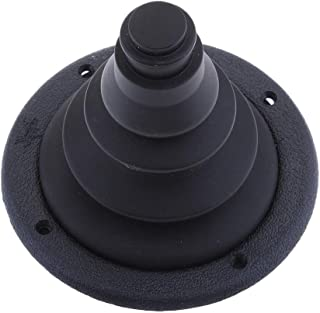Homyl 4.72 inch 120mm Marine Rigging Steering Shift Cable Boot Hole Shifter Cover Protective Bellows for Boat Yacht Ship - Black