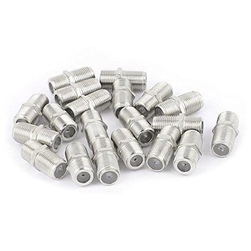 Aexit 20 Stücke F Typ Buchse auf Buchse Gerade RF Coax TV Adapter Anschlüsse Silber Ton (8dae899908edb7fb282bd6b5faf7e5ac)