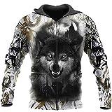 Catboroz WOLF 3D Hoodie Sweatshirt Long Sleeved T-Shirt, Zip Hoodie, 6XL