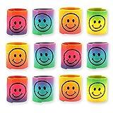 12x Spirale Spielzeug / für Kinder-Geburtstag Jungen und Mädchen / Mitgebsel / Kindergeburtstag Gastgeschenke / Smile Regenbogen Spiralen Paket von Party Pack™