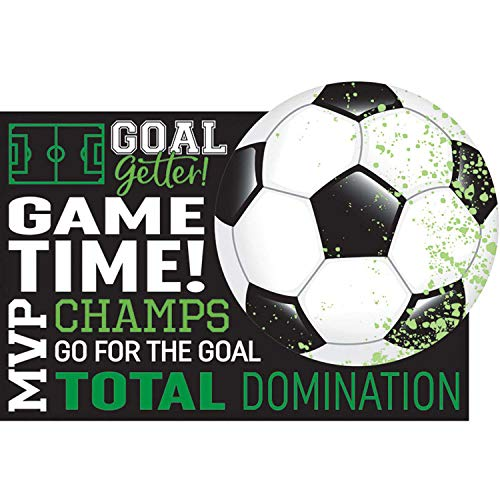 Amscan 492902 uitnodigingskaarten Goal Getter voetbal