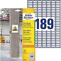 Avery Zweckform l7871-20滑り止め用紙ラベル、25.4 x 10 mm、20枚/ 3780ラベルホワイト