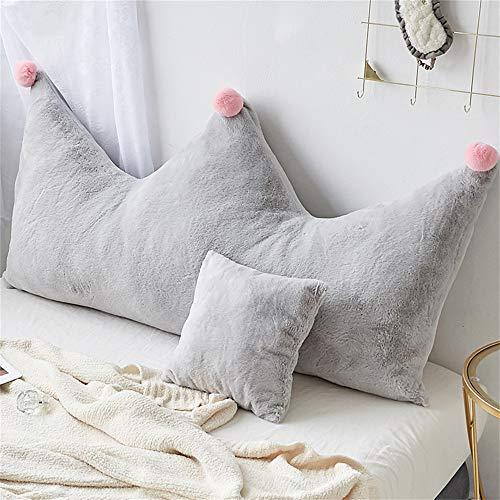 Cojines JXQ Corona Cama Almohada Cabecera Bolsa Suave Habitación para niños Sofá Doble Dormitorio Respaldo Grande extraíble y Lavable, 4 tamaños y 9 Colores (Color : D, Size : 120x20x80cm)