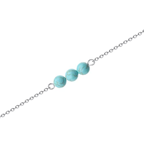 RRP £19.99 Sparkling Blue Glitter Ball Necklace