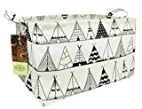 HUNRUNG Rectangle Storage Basket Cute Canvas Organizer Bin for Pet/Kids Toys, Books, Clothes Perfect for Kid Rooms/Playroom/Shelves (Tent)
