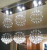 NOXARTE Luxury Crystal Chandelier Ceiling Light Raindrop Modern Indoor Lighting Fixture...