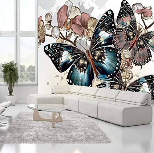 3D vliesbehang foto vlies premium fotobehang textured orchidee bloem murals 3D wandschilderijen wallpaper voor slaapkamer en achtergrond 3D fotobehang Fresco 3D wandschilderijen 400*280 400 x 280 cm.