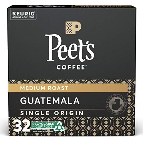 Peet's Coffee, Single Origin Guatemala - Medium Roast Coffee - 32 K-Cup Pods for Keurig Brewers (1 Box of 32 K-Cup Pods)