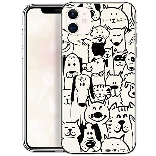 OOH!COLOR Handyhülle kompatibel mit iPhone 11 Hülle transparent Slim Bumper dünn Silikon Schutzhülle durchsichtig Hülle mit Motiv Tiere