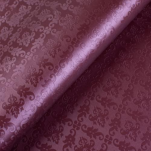MUYUNXI Polipiel Cuero Artificial De Cuero para Tapizar Sofá Polipiel Silla Manualidades Cojines 138 Cm De Ancho Vendido por Metro(Color:Fucsia)