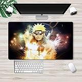 Naruto Alfombrilla de ratón para juegos de anime con diseño de anime para escritorio, almohadilla para teclado de ordenador, alfombrilla para ratón Uzumaki Naruto Uchiha Sasuke Haruno