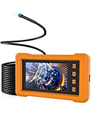 "5.5mm Industrial Endoscope, KZYEE KZ2000 4.3"" IPS Screen, 2800mAh 1080P HD Car Borescope Inspection Camera IP67 Waterproof Semi-Rigid Snake Camera with 8GB TF Card - 33FT"
