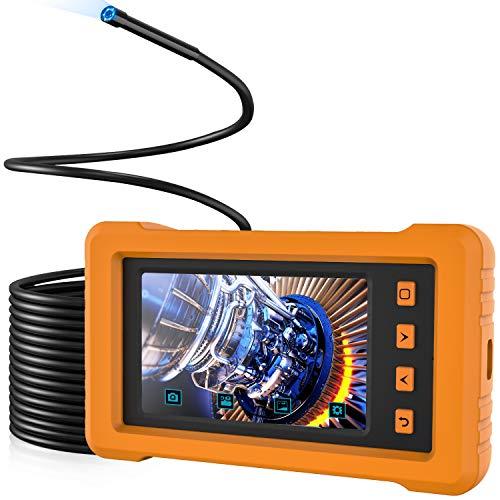 Industrie Endoskopkamera, KZYEE KZ2000 5.5MM Endoskop mit 4,3 Zoll IPS Bildschirm, 1080P Inspektionskamera mit 6 LED Licht, 2800mAh Rohrkamera, 8G TF-Karte - 10M