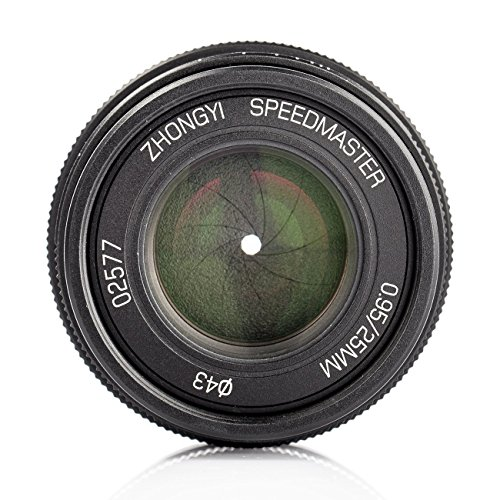 Zhongyi Mitakon Speedmaster 25 mm f/0, 95 Für Micro Four Thirds Kameras ( MFT/ M43 ) Schwarz