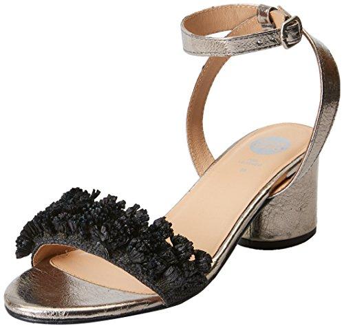 Gioseppo 44123, Zapatos de tacón con Punta Abierta Mujer, Negro (Black), 36 EU