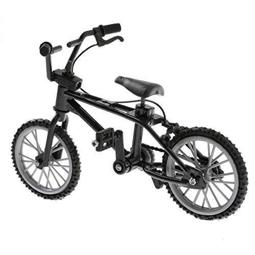 1 / 24th Mini Lega Bici Bike BMX Mountain Bicicletta da Bicicletta Giocattolo Regali Scrivania Gadget - Nero