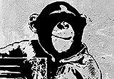 Zoom IMG-2 murando quadro banksy scimmia con