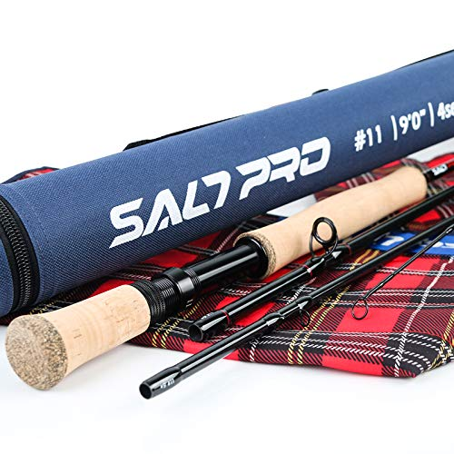 M MAXIMUMCATCH Maxcatch Saltwater Fly Fishing Rod 9ft 8/9/10wt Graphite IM10 Fast Action(9ft 10wt)