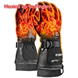 ENKEEO Winter Heated Gloves, Electric Glove Men Women Rechargeable Battery Heated Hand Warmer for Outdoor Cycling Skiing Skating Hiking with 3 Levels Temperature Control & Touch Screen