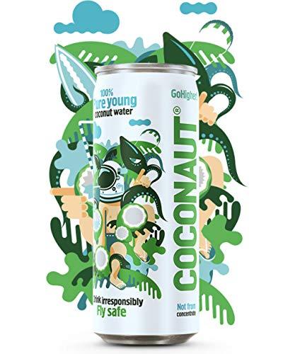 COCONAUT® Kokosnusswasser (48 x 320ml Dose) Fruchtiges Kokoswasser aus Vietnam - Still, Frisch und Pur aus der Jungen Grünen Kokosnuss - Der Leckere Coco Low Carb Durstlöscher - Kalorienarm - EINWEG