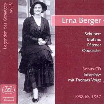Legenden Des Gesanges, Vol. 3: Erna Berger