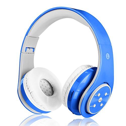 Auricular Bluetooth sin hilos para los cabritos los adultos sonido estéreo venda de los auriculares sobre el receptor de cabeza del oído Bluetooth plegable con el micrófono de Compatible con T