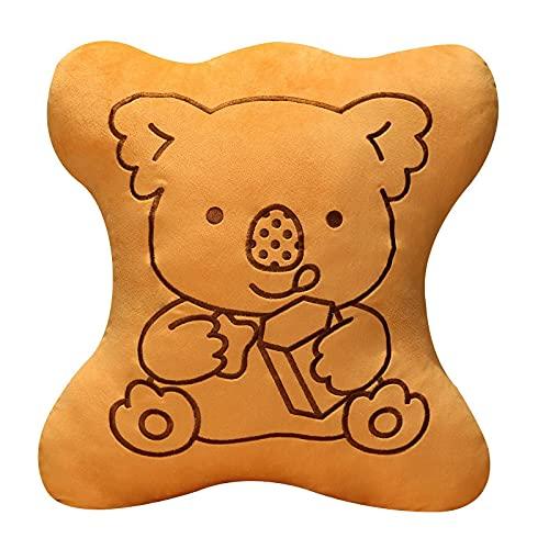 Spielzeug Koala Riesen Plüsch Keks Form Lebensmittel Kissen Kreatives Paar Plüsch Puppe Super Weiche Kissen Urlaub Liebhaber Geschenk 58 * 55CM Junge Koalas