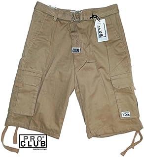 Pro Club Men`s Twill Cargo Short Pants - Khaki