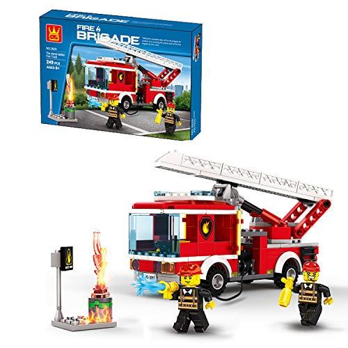Airel Puzzle 3D | Spiele Bauen Kinder | Konstruktionsspielzeug | Konstruktionsspielzeug Kínder- Erwachsene | Bausteine für Kinder | Pädagogisches Lernspielzeug | Baufahrzeuge Feuerwehrauto