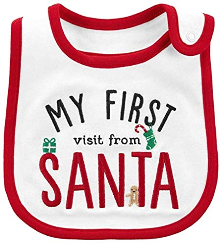 Carter's Just One You Baby Christmas Bib Boy/Girl (My First Visit from SANTA)